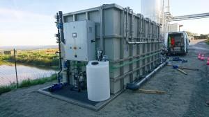 Essais de traitement chez un client avec le module d'ultrafiltration 240 m³/j