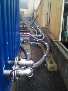 MODUL'eau : Raccordement effluents et air préssurisé
