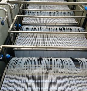 Détail caissons de membranes en PVDF